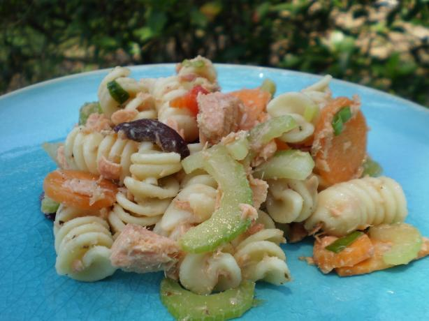 Salmon Pasta Salad. Photo by breezermom