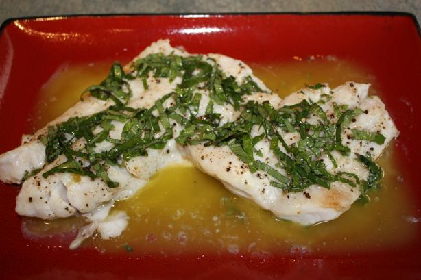 Red Snapper With Basil Vinaigrette. Photo by IngridH