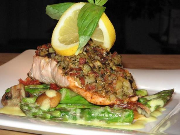 Whole Trout (Or Fillets) Stuffed W/Bacon & Eggplant Dressing. Photo by The Flying Chef