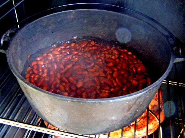 Smoked Baked Beans. Photo by Rita~
