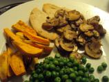 Turkey Marsala With Sweet Potato Wedges