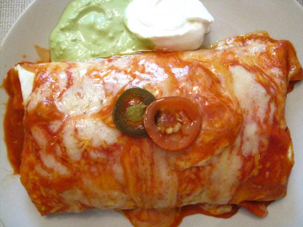 Beef Wet Burritos Hacienda-Style!. Photo by Slim PA