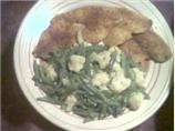 Cajun Sole With Green Beans &amp; Cauliflower