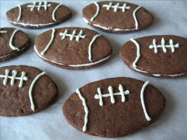 Fabulous Filbert Football Cookies Aka Super Bowl Cookies. Photo by Brenda.