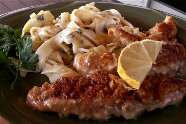 Tuscan Chicken in Lemon-Wine Sauce (Scaloppine Al Limone). Photo by Cookin'Diva