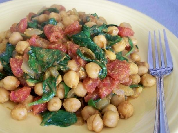 Spinach and Chickpea Curry. Photo by *Parsley*
