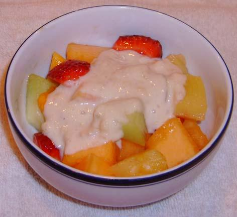 Hawaiian Fruit Salad With Banana Dressing. Photo by NorthwestGal