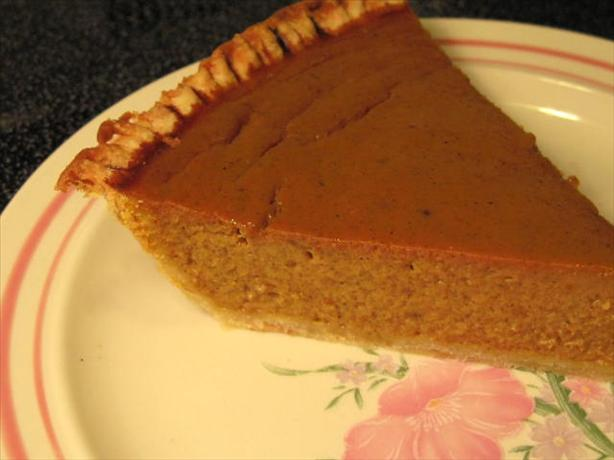 Smooth Pumpkin Pie. Photo by Kansas A