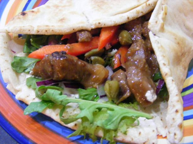 Aussie Lamb Sandwich / Souvlaki. Photo by Sara 76