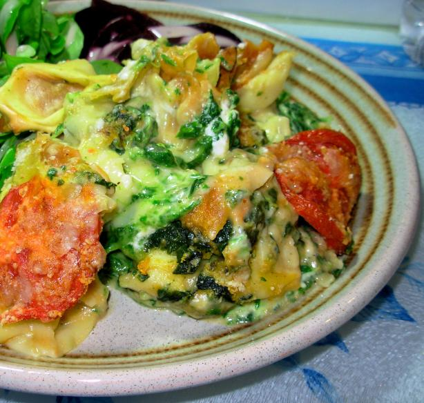 Spinach  and Tortellini Casserole. Photo by French Tart