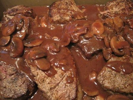 Filet of Beef Chasseur (Tenderloin-Filet Mignon). Photo by CIndytc