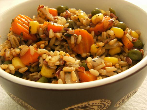 Brown Rice Pilaf. Photo by Lalaloula