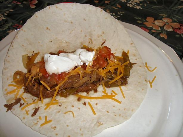 Crock Pot Steak Fajitas. Photo by happynana