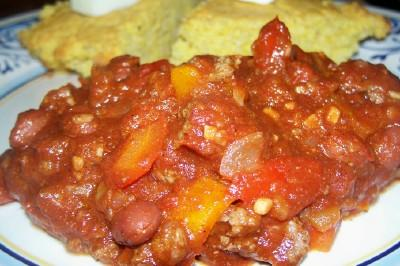Weight Watcher's 2 Pts Slow Cooker Beef Chili. Photo by lauralie41