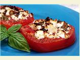 Tomatoes Broiled with Goat Cheese and Basil