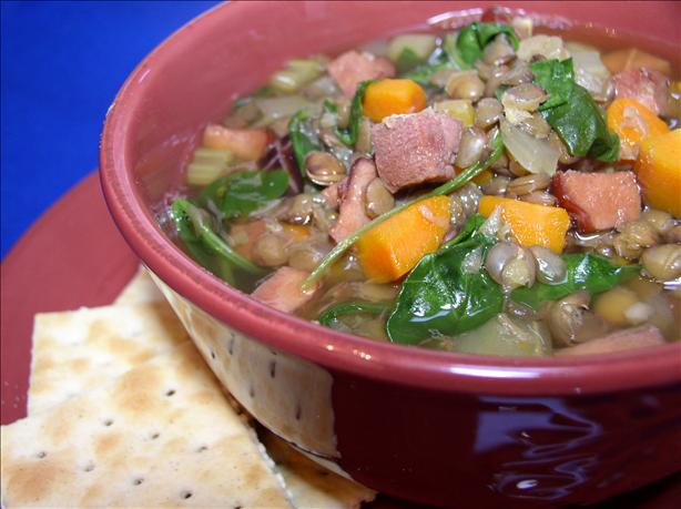 Ham and Lentil Stew. Photo by Bayhill