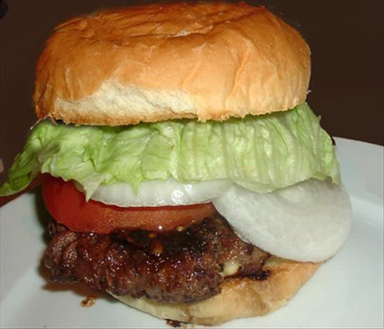 Grilled Teriyaki Burgers. Photo by Bergy