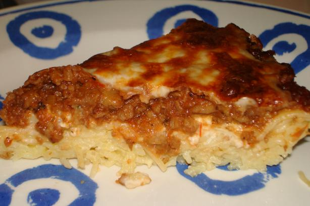 Spaghetti Pie. Photo by Pinot Grigio