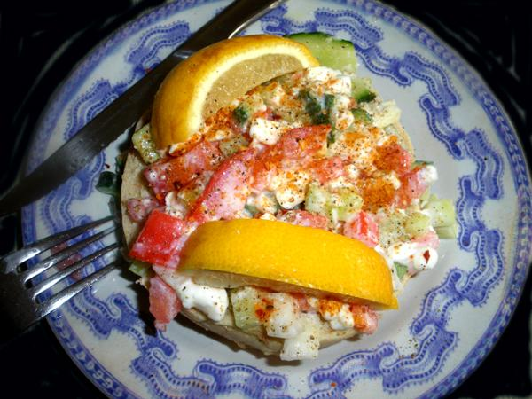 Light and Healthy Cottage Cheese and Vegetable Salad or Sandwich. Photo by Bergy