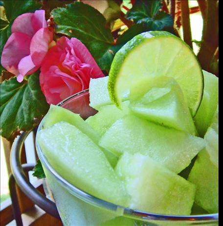 Honeydew Melon With Lime Juice. Photo by Bev