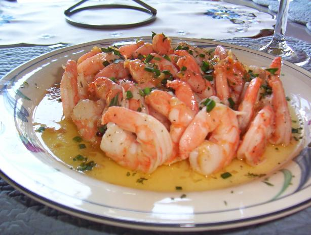 Marinated Shrimp With Champagne Beurre Blanc. Photo by WiGal