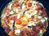 Mixed Courgette and Cherry Tomato Clafouti With Cheese