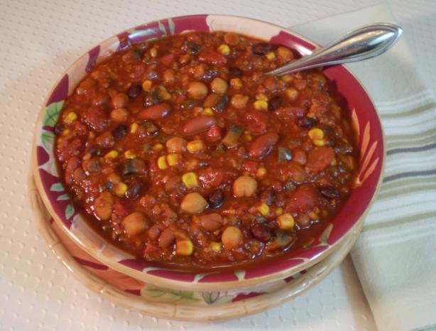 Crock Pot (Or Not) Vegetarian Chili. Photo by TasteTester