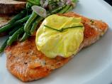 Salmon With Saffron Cream Sauce