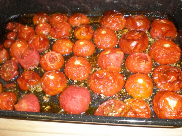 Oven Roasted Tomato Sauce. Photo by SueVM