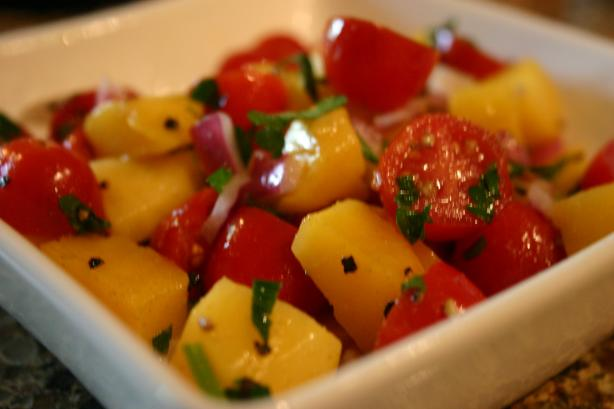 Mango & Red Onion Salad. Photo by KPD