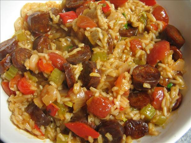 Shrimp and Sausage Jambalaya. Photo by Vino Girl