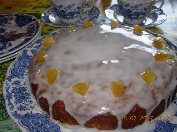 English High Tea Preserved Ginger Drizzle Cake. Photo by French Tart