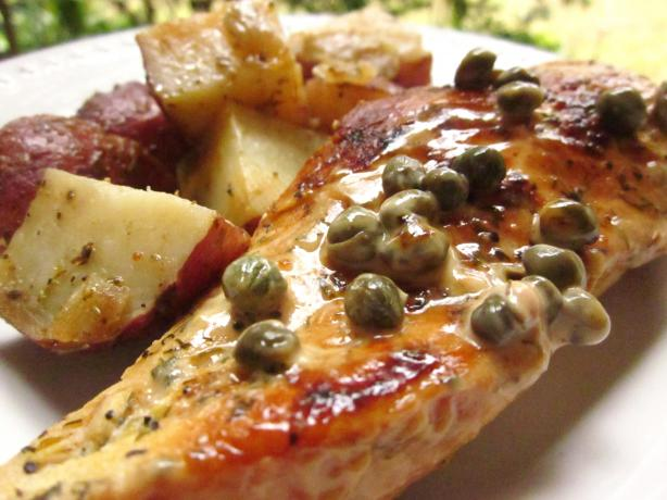 Chicken Breasts in Caper Cream Sauce. Photo by gailanng