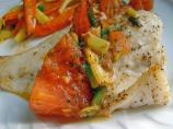 Grilled Halibut Fillets With Tomato and Dill
