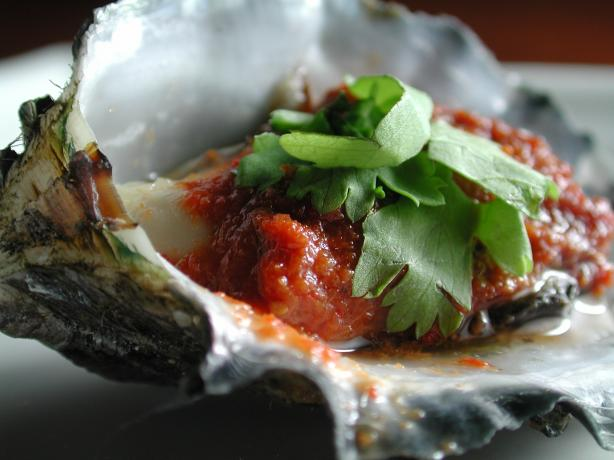 Red Curry Oysters. Photo by Chef floWer