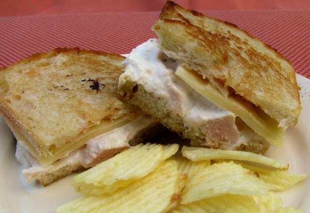 Paula Deen's Almond Chicken Salad Melt. Photo by lazyme