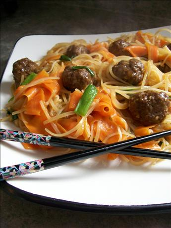 Asian Meatballs With Rice Noodles. Photo by * Pamela *