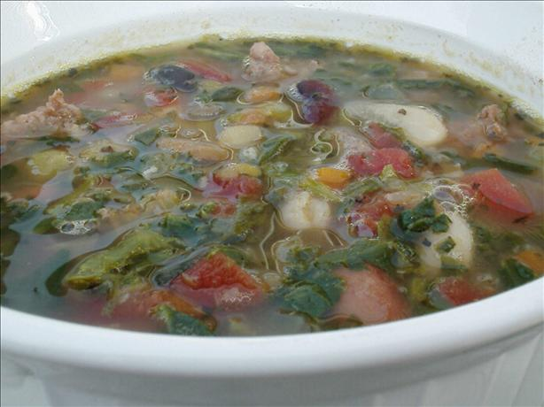 Italian Mixed Bean Soup. Photo by Kim127
