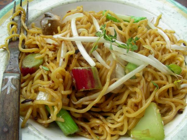 Stir-Fried Rice Noodles With Black Bean Sauce. Photo by Andi of Longmeadow Farm