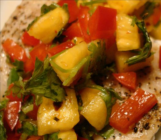 Mahi-Mahi With Fresh Pineapple Salsa. Photo by Vicki in CT