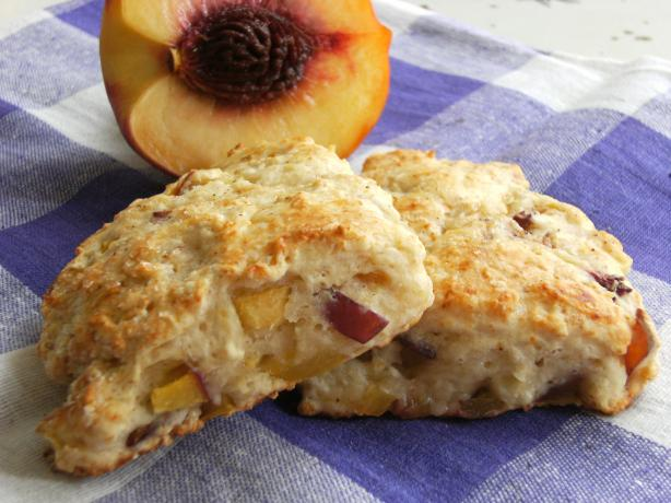 Weight Watchers Peach Scones. Photo by Lalaloula