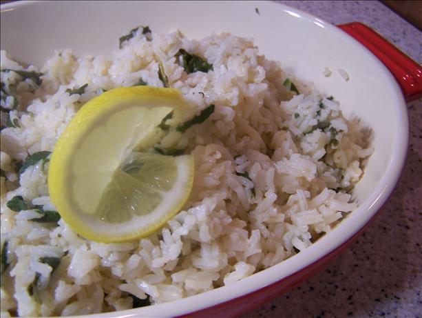 Spinach Lemon Rice. Photo by Rae England