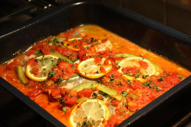Portuguese-Style Baked Fish. Photo by Rhiannon and Matt