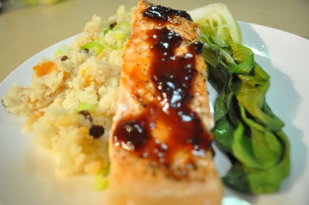 Pan-Fried Salmon With Warm Chilli ( Chili ) Lime Sauce). Photo by I'mPat