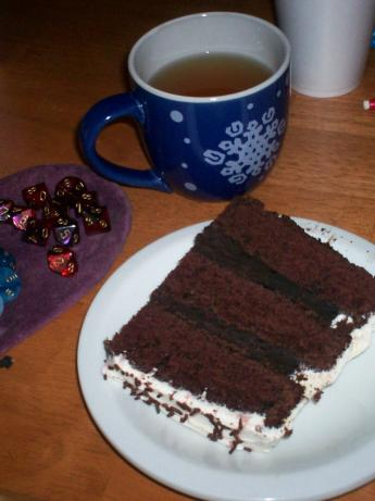 Cocoa and Cream Cake. Photo by Lynne the Pirate Queen