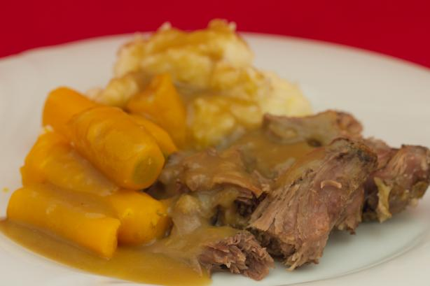 Beef Pot Roast in Crock Pot / Slow Cooker. Photo by Peter J