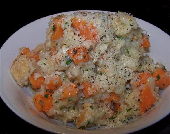 Oven Baked Sweet Potato & Chicken Risotto. Photo by **Jubes**