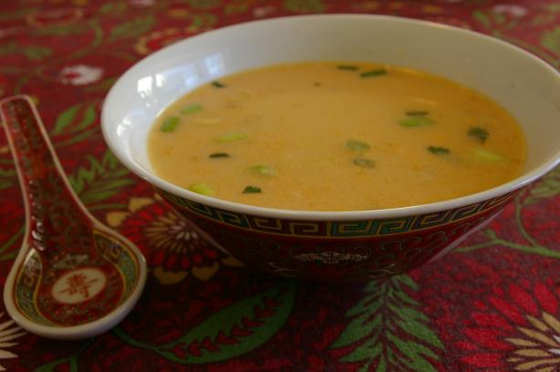 Easy Tom Kha Thai Coconut Soup. Photo by Lazarus