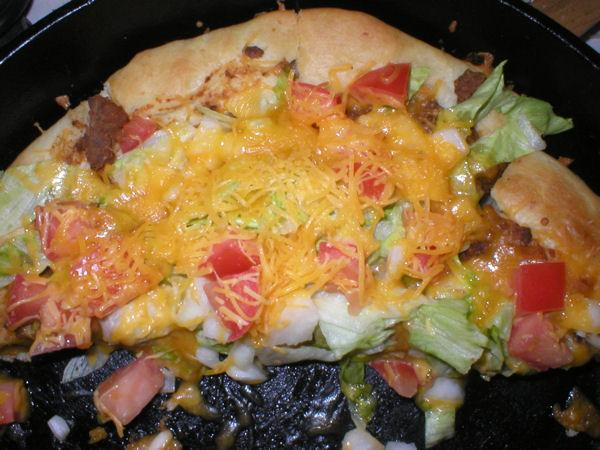 Twig's Taco Pizza. Photo by Twiggyann