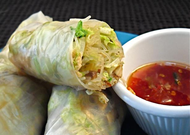 Smoked Salmon Rice Paper Wraps. Photo by PaulaG